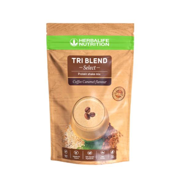 Tri Blend Select - Μείγμα Πρωτεϊνούχου Ροφήματος - Γεύση Καραμελωμένου Καφέ 600γρ